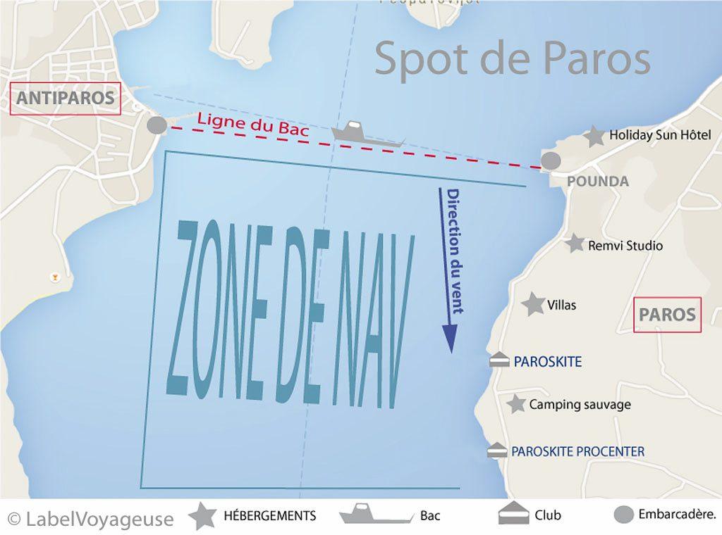 Label Voyageuse - Paros Spot de kitesurf